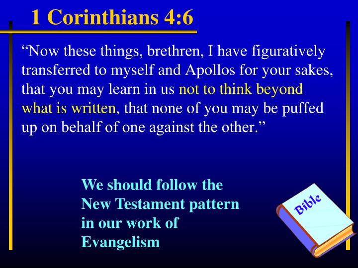 1 Corinthians 4:6