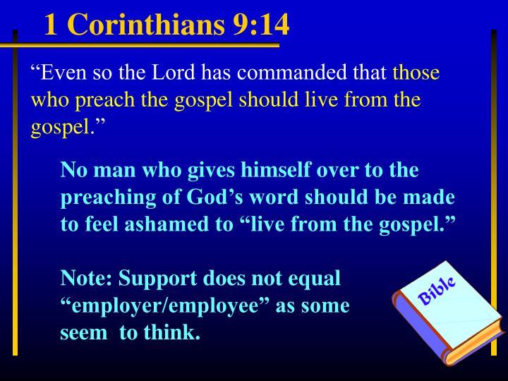 1 Corinthians 9:14
