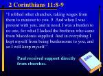 2 corinthians 11 8 9