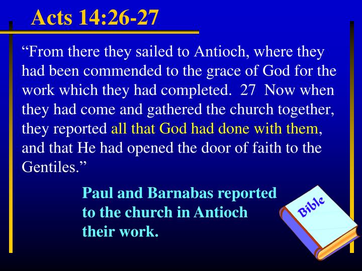 Acts 14:26-27