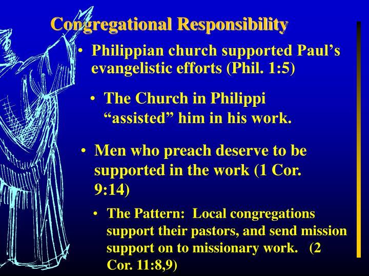 Congregational Responsibility