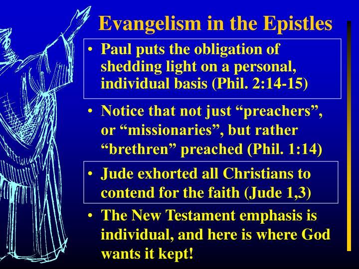 Evangelism in the Epistles