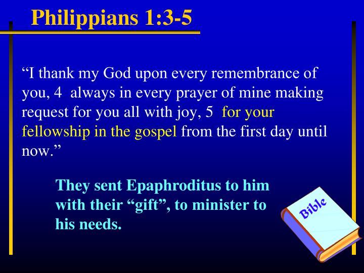 Philippians 1:3-5