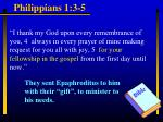 philippians 1 3 5