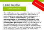 ii strict case law1