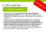 ii strict case law2