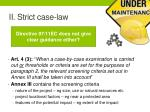 ii strict case law6