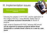 iii implementation issues1