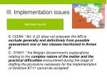 iii implementation issues2
