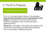 v the ec s proposal