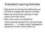 embodied learning activities