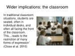 wider implications the classroom