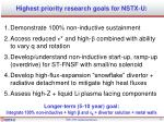 highest priority research goals for nstx u