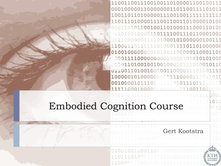 embodied cognition course n.