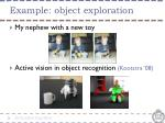 example object exploration