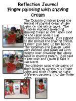 reflection journal finger painting with shaving cream