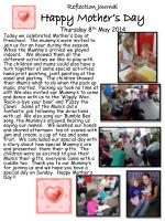 reflection journal happy mother s day thursday 8 th may 2014