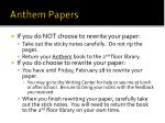 anthem papers