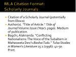 mla citation format scholarly journals