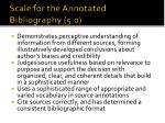 scale for the annotated bibliography 5 0