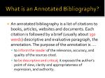 what is an annotated bibliography