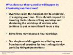 what does our theory predict will happen by introducing overtime laws
