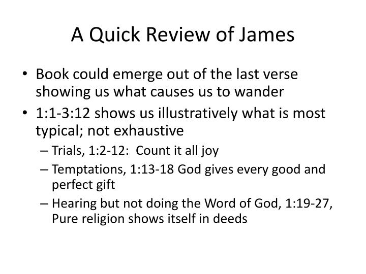 a quick review of james n.
