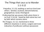 the things that caus us to wander 1 1 3 12