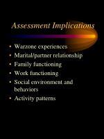 assessment implications