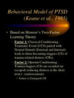 behavioral model of ptsd keane et al 1985