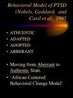 behavioral model of ptsd nobels goddard and cavil et al 1995