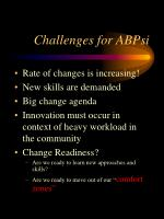 challenges for abpsi