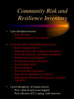 community risk and resilience inventory