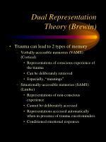 dual representation theory brewin