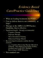 evidence based care practice guidelines