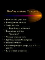 healthy activity structure