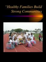 healthy families build strong communities
