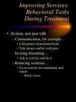 improving services behavioral tasks during treatment