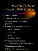possible topics in couples skills training