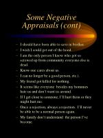some negative appraisals cont