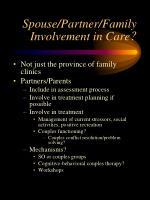 spouse partner family involvement in care