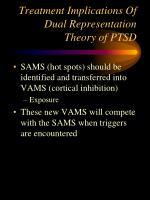 treatment implications of dual representation theory of ptsd