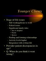 younger clients