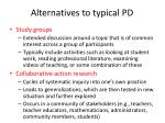 alternatives to typical pd