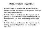mathematics educators
