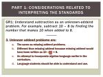 part 1 considerations related to interpreting the standards3