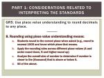 part 1 considerations related to interpreting the standards8