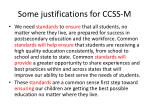 some justifications for ccss m1