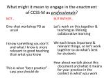what might it mean to engage in the enactment of ccss m as professionals