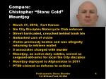 compare chistopher stone cold mountjoy